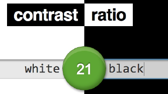 Color Contrast Ratio